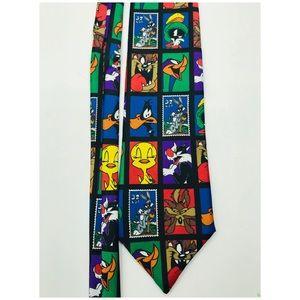 Looney Tunes Warner Bro Mens Tie Stamp Collection